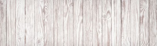 White wood texture, wide panoramic wallpaper background stock images