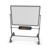 White board with colored markers. Stock Image