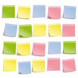 White Board Colored Sticks. Colored stickers on the white background Stock Illustration