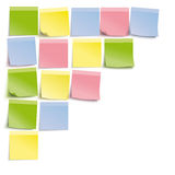 White Board Colored Sticks Template. Colored stickers on the white background Stock Illustration