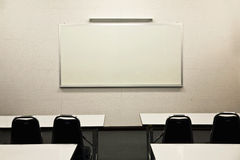 White board in learning class Royalty Free Stock Images