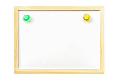 White board with magnetic. Board pin ,blank for copy space Stock Photo