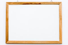 White board and pencil on the white background Royalty Free Stock Photography