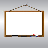 White board with rope hanging on nail vector. White board with rope hanging on nail Royalty Free Stock Photos