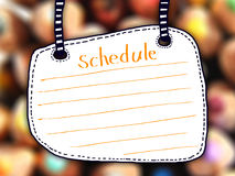 White Board Schedule Royalty Free Stock Image