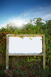 White board sign Royalty Free Stock Photos