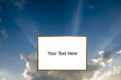 White Board in the Sky Royalty Free Stock Photo