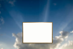 White Board in the Sky Royalty Free Stock Image
