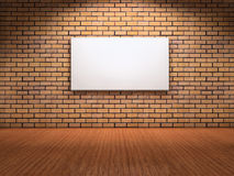 White board on wall Royalty Free Stock Photography