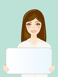 White Board and Women Royalty Free Stock Photo