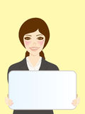 White Board and Women 2 Royalty Free Stock Image