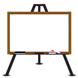 White board wood frame on easel Royalty Free Stock Photography