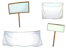White boards and cloths Royalty Free Stock Photos