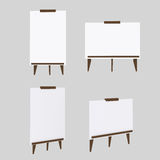 White boards models Stock Photos