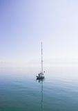 White Boat on the Middle of Body of Water Stock Image