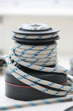The white boat rope Stock Photography