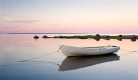 White boat in water Stock Photography