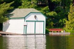 White boathouse Stock Photography