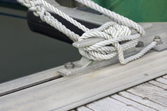 White boating knot Royalty Free Stock Photography