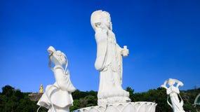 White Bodhisattva Guan Yin statue in Hat Yai municipal park, Hat Yai, Songkhla, Thailand royalty free stock photos