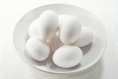 White Boiled Eggs Stock Images