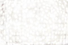 White Bokeh background - Bright Abstract defocused background wi Royalty Free Stock Photography