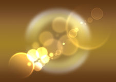 White Bokeh on Gold background Royalty Free Stock Photography