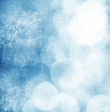 White bokeh on grungy blue background Stock Image