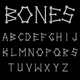 White Bones Font Royalty Free Stock Photos