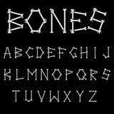 White Bones Font Royalty Free Stock Photos