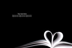 White Book And Shape Heart Royalty Free Stock Photos