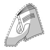 White book close in the hand image. Icon design Royalty Free Stock Photos