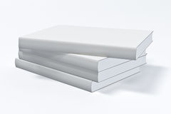 White book. White closed book on white background Royalty Free Stock Images