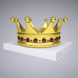 A white book and gold crown Stock Image