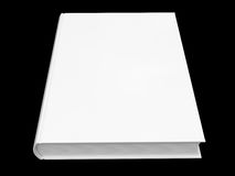 White book isolated on black background Royalty Free Stock Photos