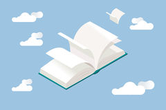 White Book Open Royalty Free Stock Image