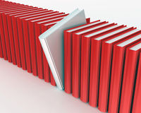 White book within red ones rendered on white background Stock Photography