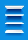 White Book Shelves Stock Photos