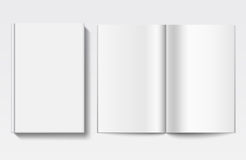 White book template Royalty Free Stock Image
