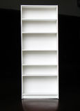 White bookcase Stock Photos