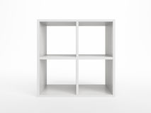 White bookcase Royalty Free Stock Photo