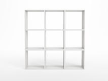 White bookcase Stock Images
