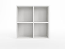 White bookcase Stock Image