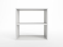 White bookcase Stock Photo