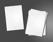 White booklets mockup template Royalty Free Stock Images