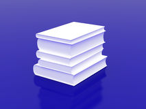 White books on a blue background Royalty Free Stock Photos