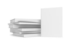 White books. Isolated render on a white background vector illustration