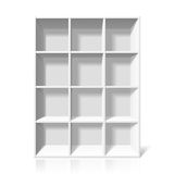 White bookshelf Stock Photos