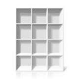 White bookshelf Stock Photos