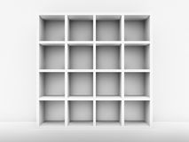 White Bookshelf Stock Image